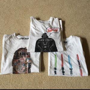 Lot of 3 Uniqlo Star Wars Short Sleeve Tees - S